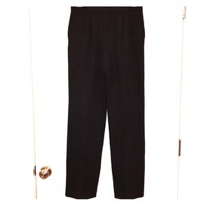 St. John Black Santana Knit Straight Leg Pants
